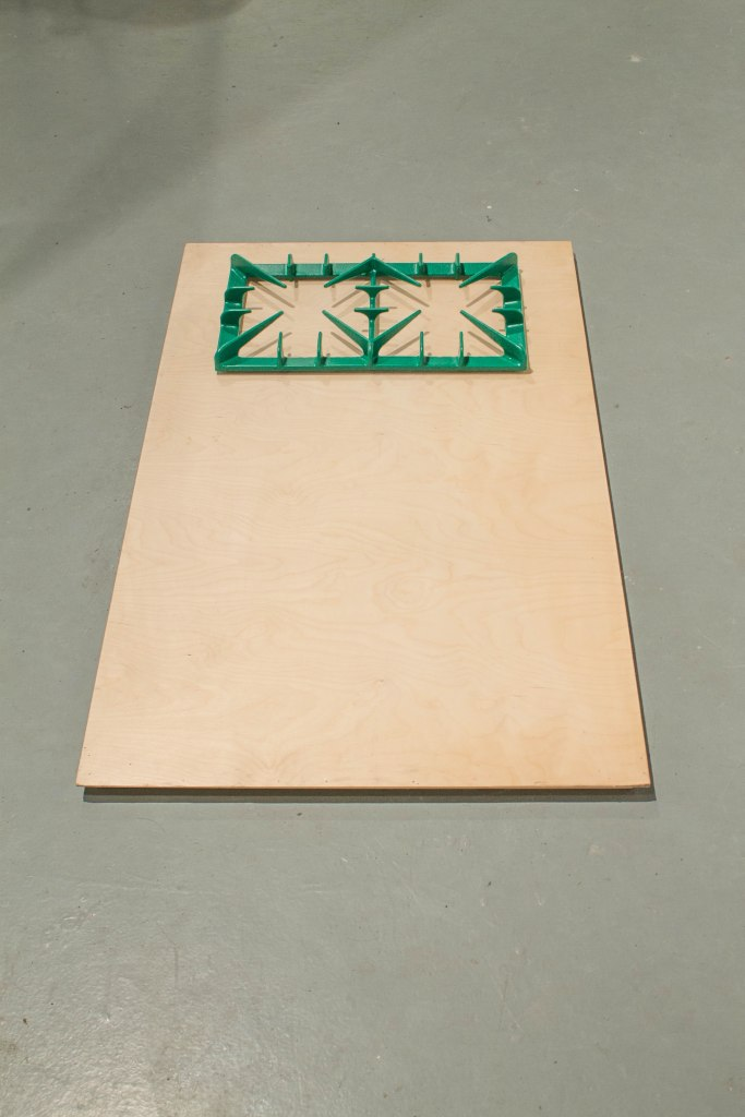 Mantrap Cast Iron, Paint, Birch